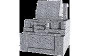 標準洋型(1.0m2)石種:白御影(新小目)