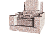 高級洋型(2.0m2)石種:桃華