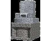 オリジナルデザイン(0.56m2)石種:外棚:桜白,墓石:新小目