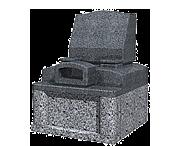 オリジナルデザイン(0.64m2)石種:外棚:新小目,墓石:河北山崎