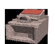オリジナルデザイン(0.8m2)石種:桃華 (銘板はインペリアルレッド)